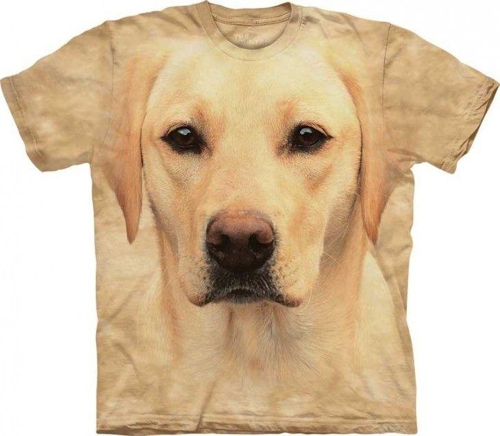 THE MOUNTAIN YELLOW LAB LABRADOR   DOG PUPPY ANIMAL  BIG FACE ADULT  T SHIRT