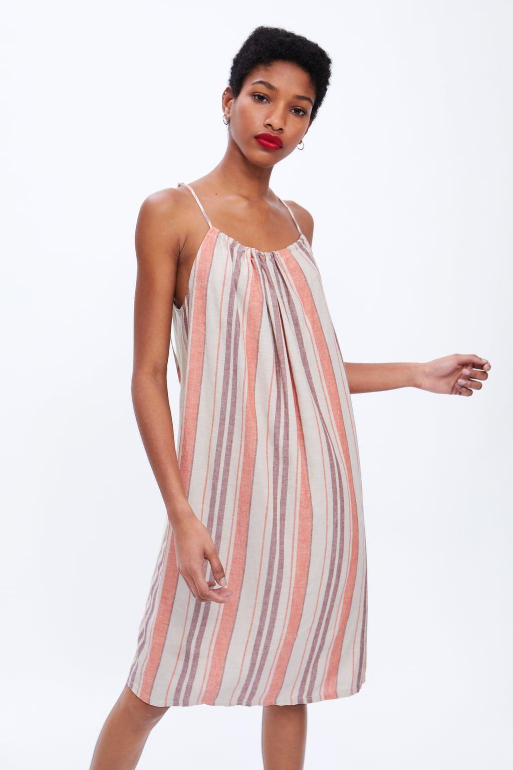 9f3a6098 Striped rustic dress in 2019 | ZARA favorites | Dresses, Rustic ...
