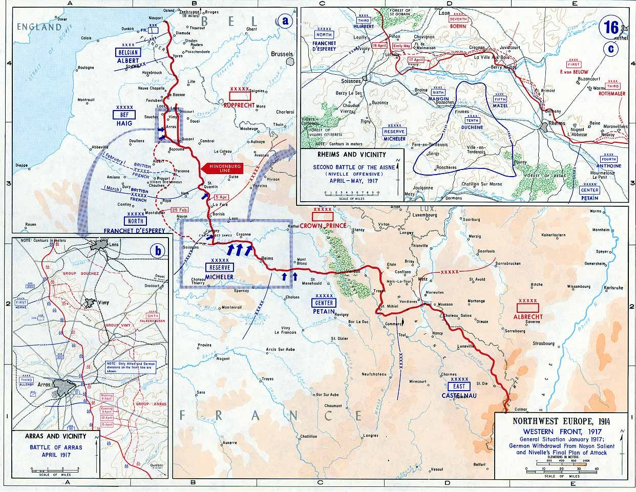 The western front in 1917 with the blue arrows indicating the dinge en goete things and stuff this day in world war 1 history feb germans begin withdrawal to the hindenburg line gumiabroncs Images
