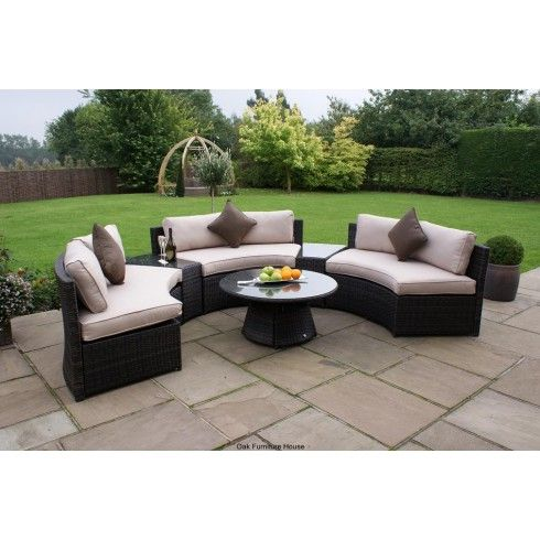 rattan half moon sofa set ikea ekeskog maze garden furniture design