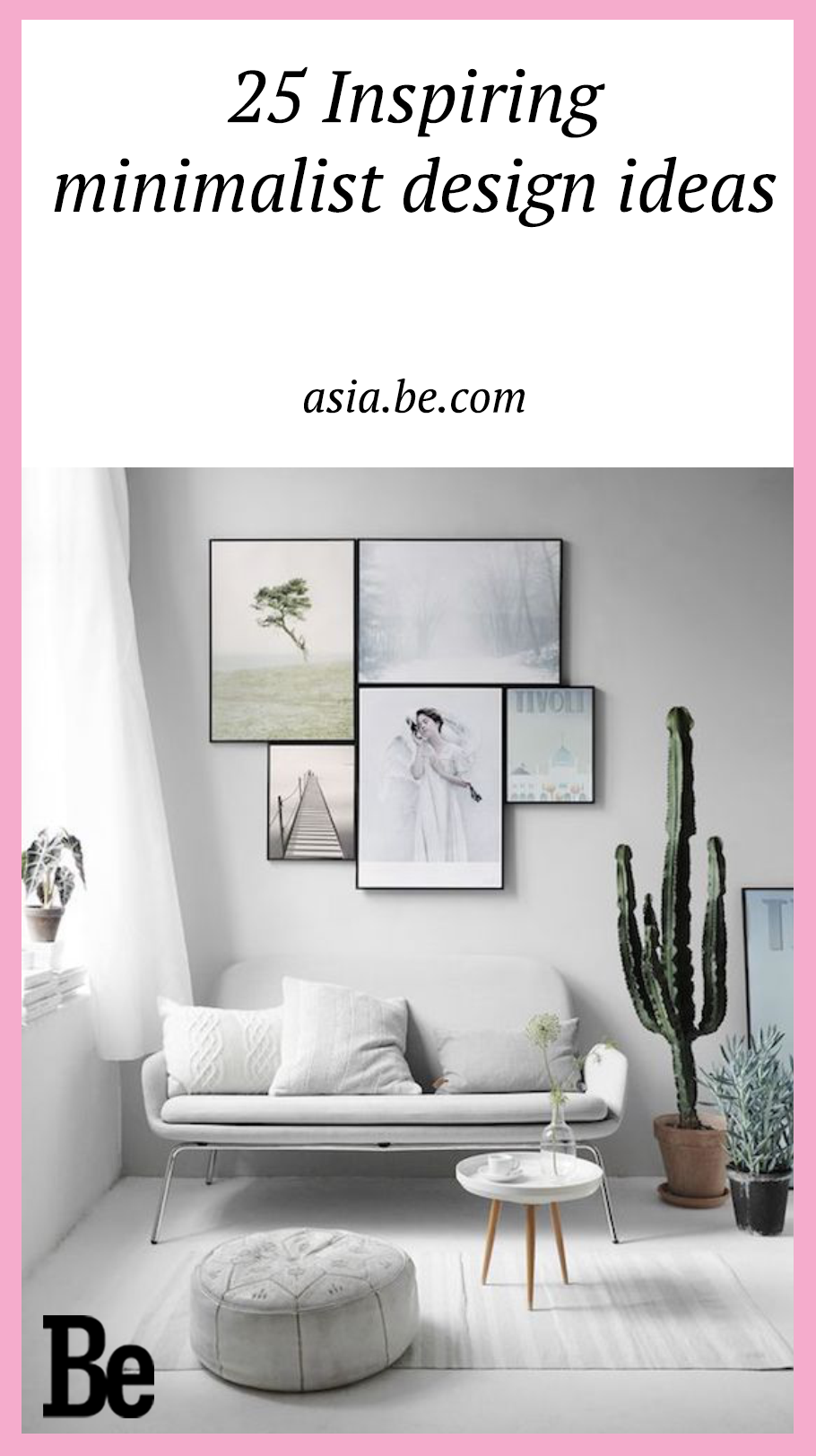 If 'Less is more' is your mantra here some design ideas to suit your stylishly clean aesthetic.