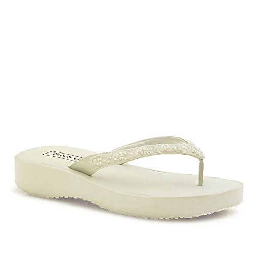 Touch Ups Macy Ivory Flip Flop Wedding Shoes Xlarge Uk 7 9 Touch Ups Http Www Amazon Co Uk Dp B00t808o88 Ref Cm Ivory Flip Flops Ivory Sandals Wedding Shoes