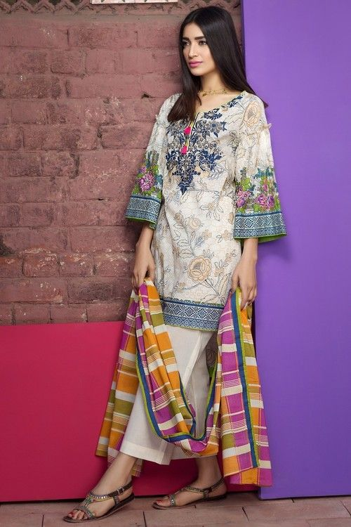 cdcbce8735 Khaadi 3 Piece Stitched Embroidered Lawn Suit - B17217 - BEIGE -  libasco.com #khaadi #khaadionline #khadiclothes #khaadi2017 #kaadisummer