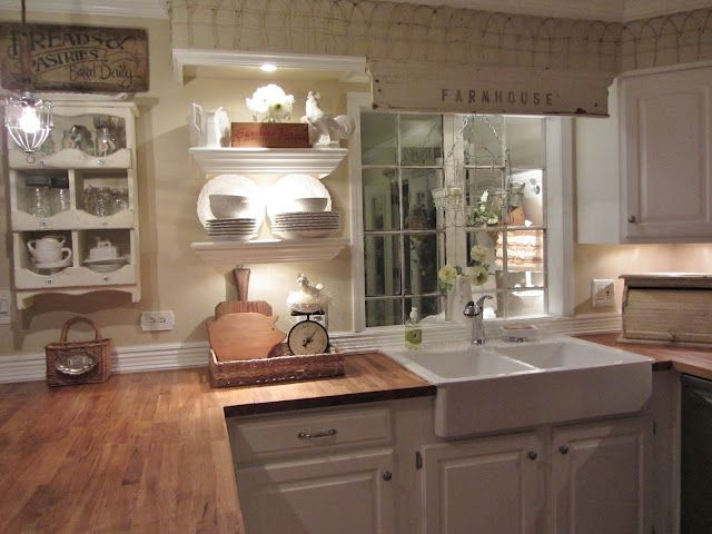Gorgeous farmhouse kitchen by Junk Chic Cottage