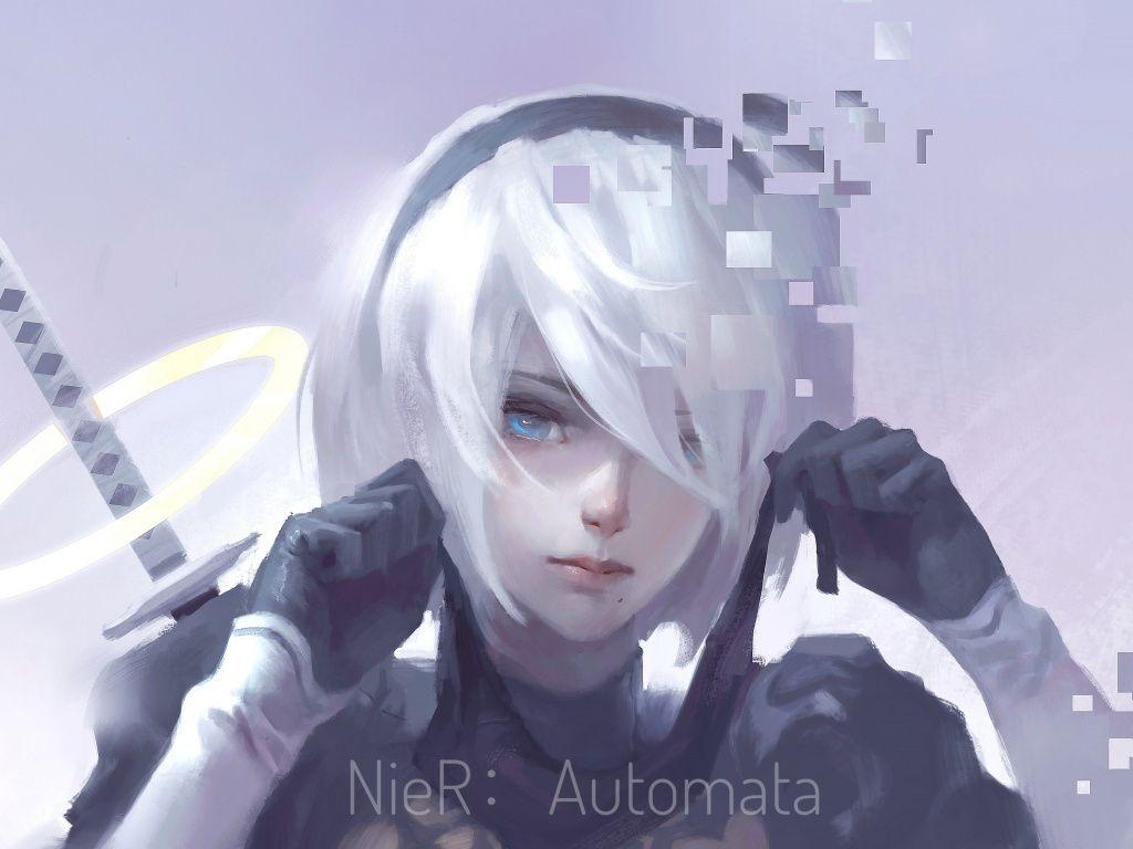 Desktop Wallpaper Nier Automata White Hair B2 Artwork Hd Image Picture Backgrounds D6aadc Automata Nier Automata Neir Automata