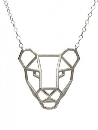 Lioness Pendant Sterling Silver 3dprintedjewelry