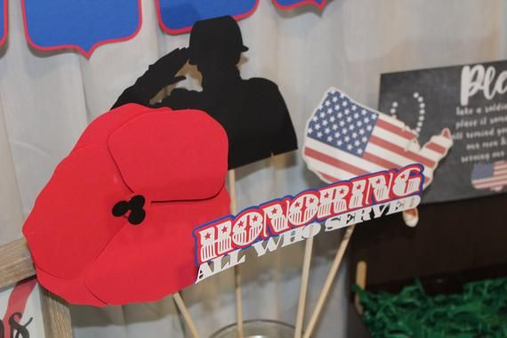 Veterans Day props - Veterans Day decor - Veterans Day party - Veterans Day prop - veteran - Veterans Day - veterans party
