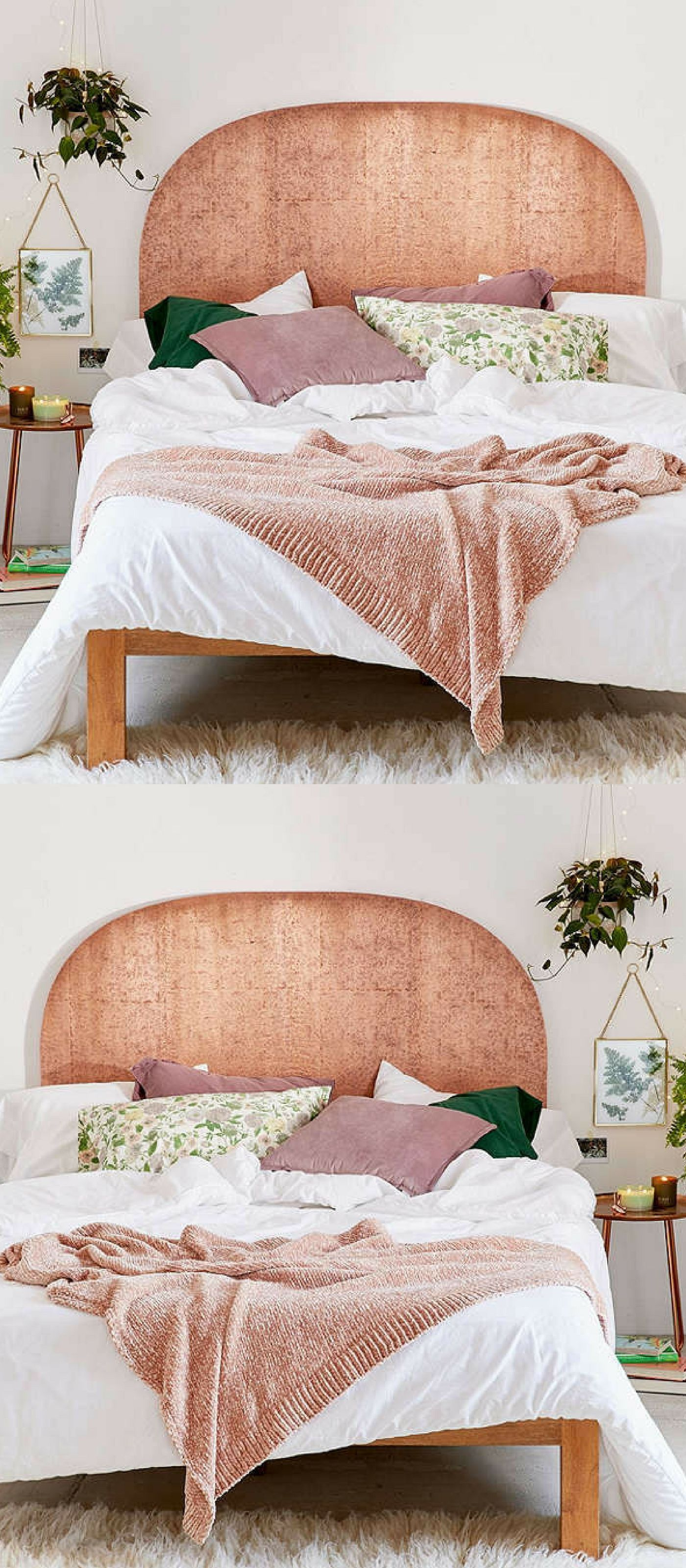 Crafted in India this rounded headboard with