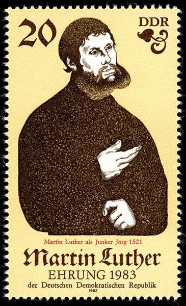 Briefmarke Der Ddr 500 Geburtstag Von Martin Luther I M