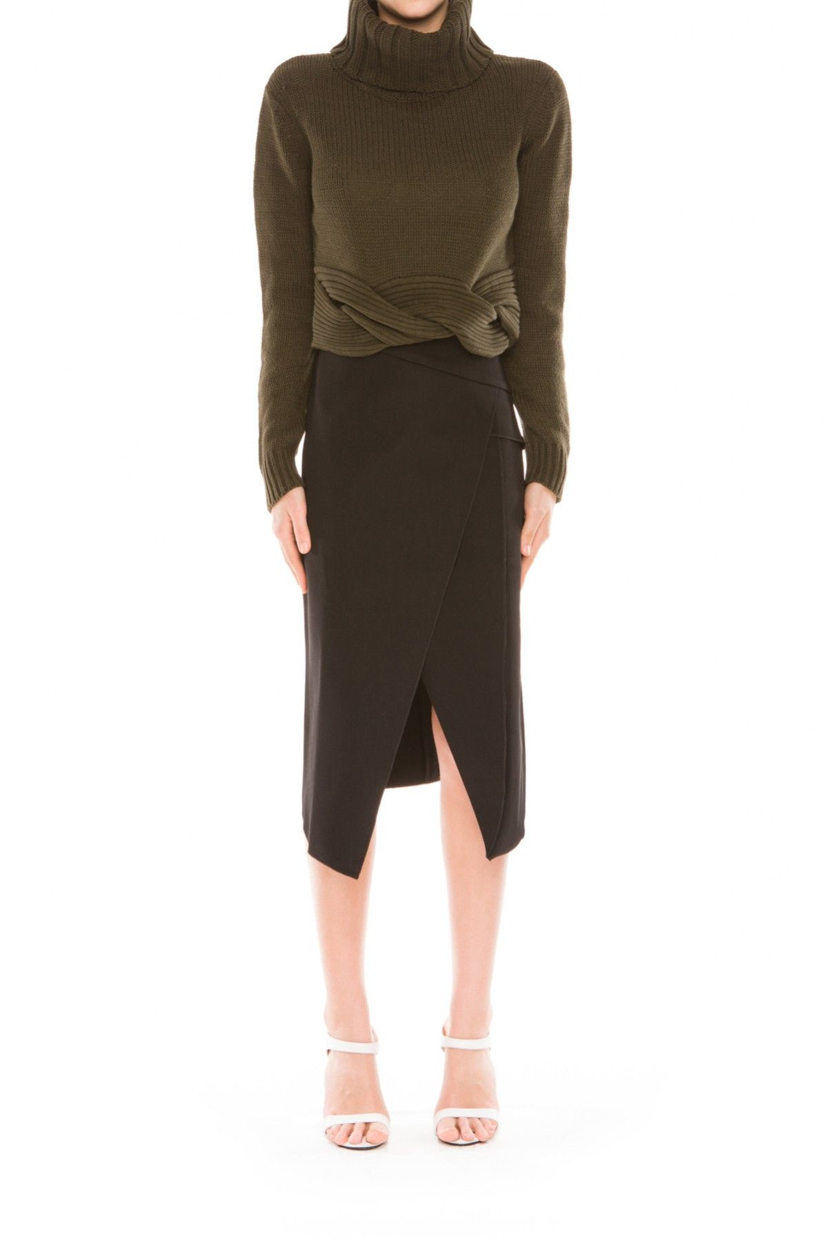 C/MEO Collective TWIST IT UP JUMPER KHAKI - BNKR