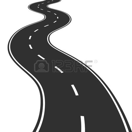 Illustration Of Winding Road Road Drawing Winding Road Car Sticker Design