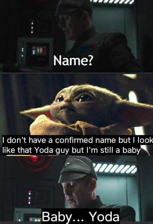 Pin By Lauren Yoder On Baby Yoda In 2020 Star Wars Jokes Star Wars Humor Star Wars Memes