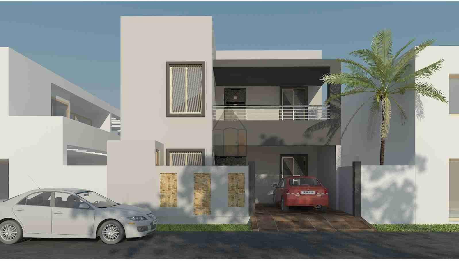 6 Marla House Plan Design 3d Elevation House Front Design Home Design Plans Beautiful House Plans