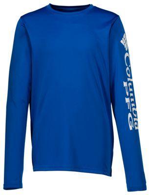 f168f837e Columbia PFG Terminal Tackle Long-Sleeve T-Shirt for Boys - Vivid Blue - XXS