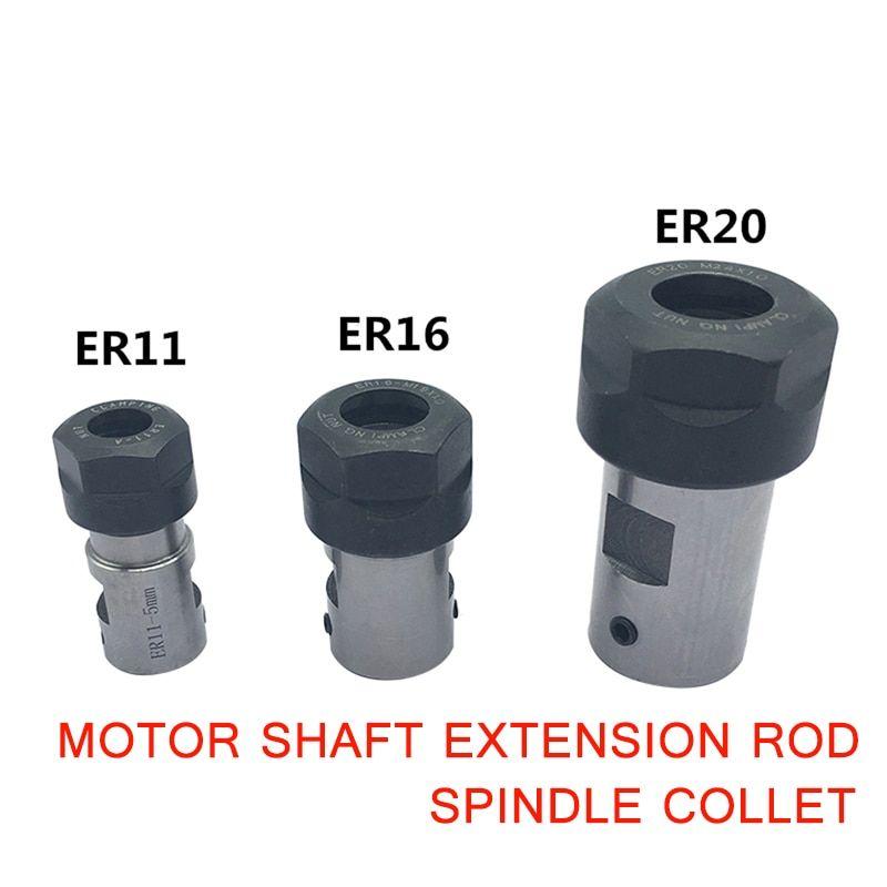 8mm ER11 Collet Chuck Tool Holder CNC Milling Motor Shaft Extension Rod
