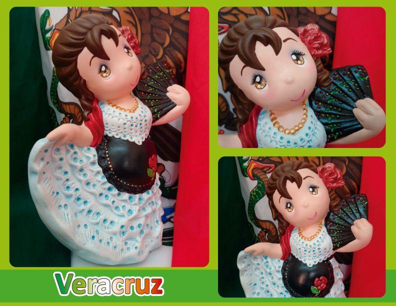 Traje Típico De Veracruz Jarocha Veracruz Regional Costume Trajes Regionales De Mexico Trajes Tipicos De Mexico Artesanía Mexicana