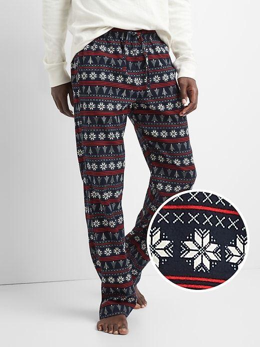 Gap Mens Flannel Pj Pants Snowflake Fairisle | Products
