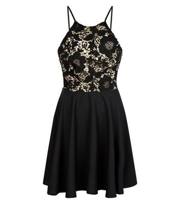 Nice Black Crochet Panel Skater Dress Check more at http://www.fiftyshadestores.com/shop/womens/black-crochet-panel-skater-dress-5/
