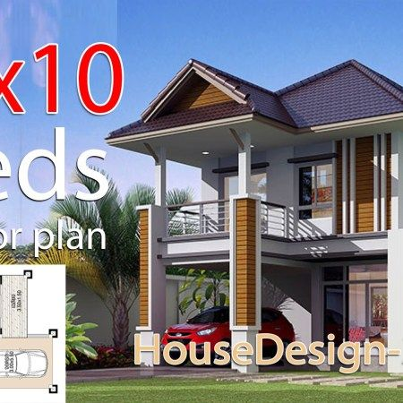 House Design 3d 9x9 5 With 4 Bedrooms House Design 3d Tiny House Design Small House Design Plans House Design