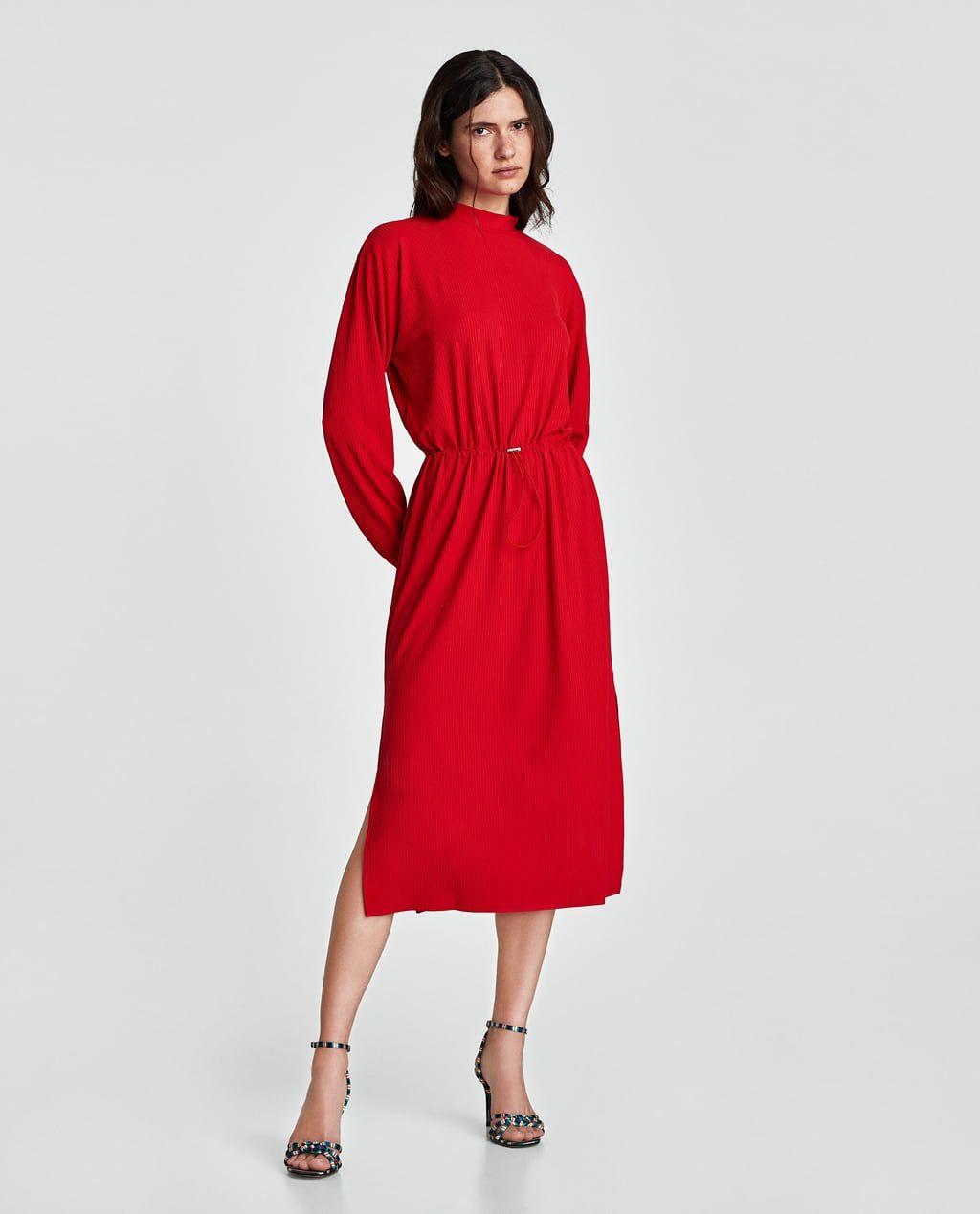 9c0a1810c869 RIBBED DRESS-Midi-DRESSES-WOMAN