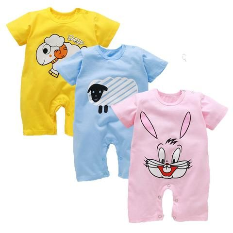 b08d5f6dae216 Baby Rompers Summer Baby Boy Clothes Cotton Baby Girl Clothing Newborn  Clothes Roupas Bebe Infant Baby Jumpsuits Kids Costume