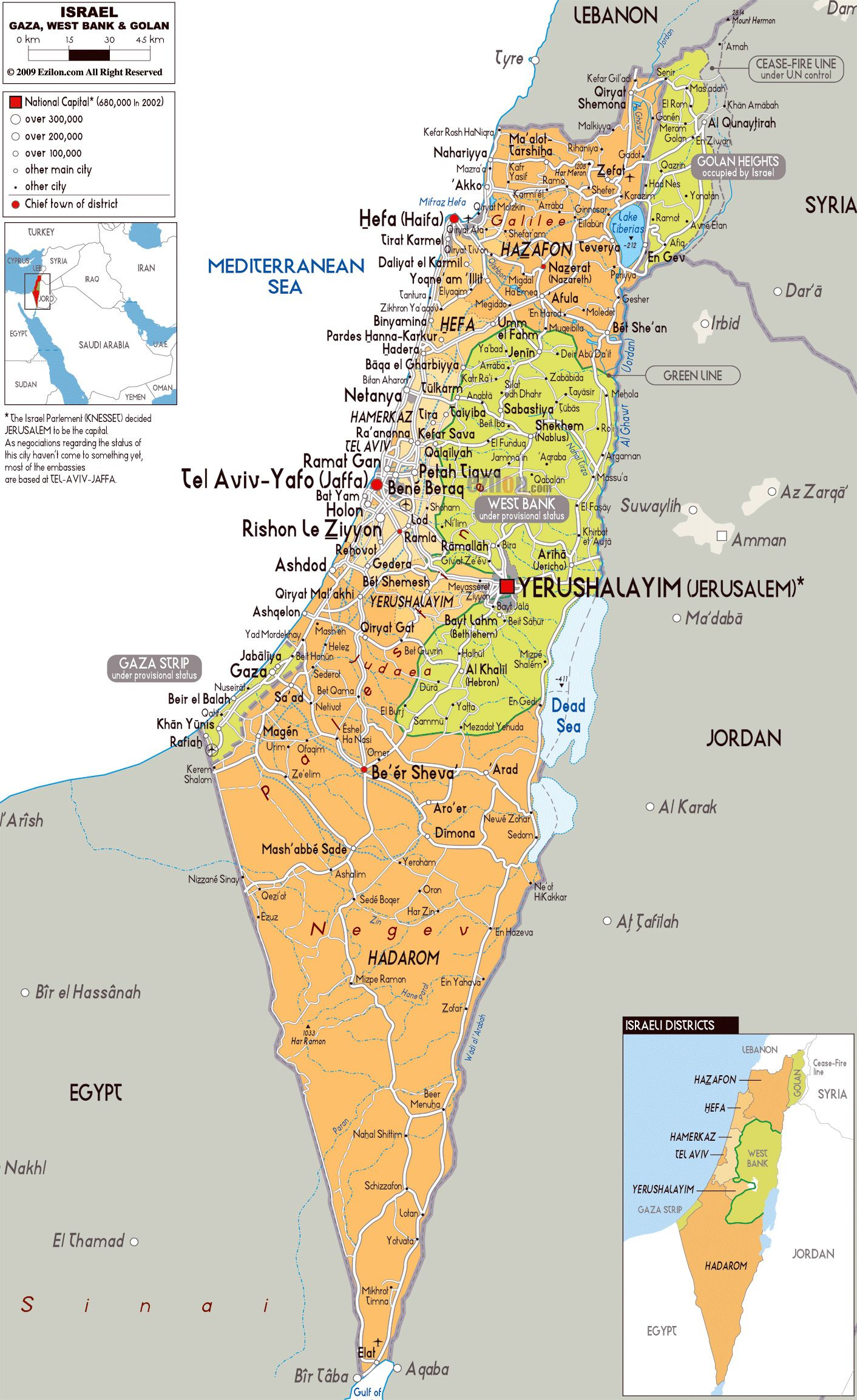 Image result for printable map of israel israel map Pinterest