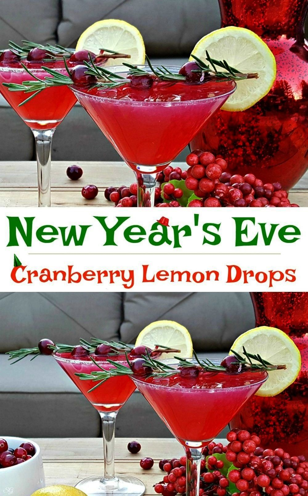 Year's Drink Recipe - Cranberry Lemon Drop -  New Year's Eve Drink Recipe! A cranberry lemon drop