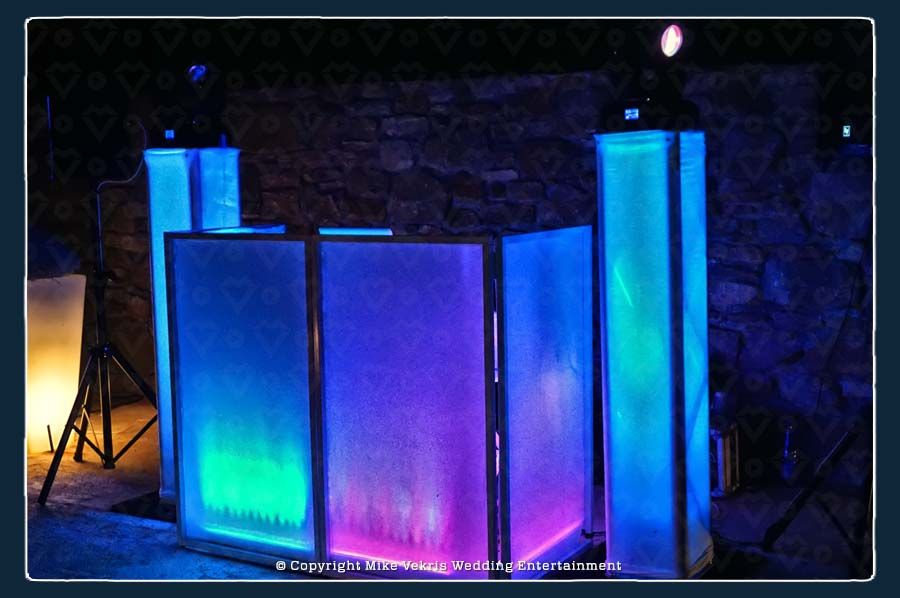 An elegant, classy and tidy DJ Booth for your Wedding in Greece
