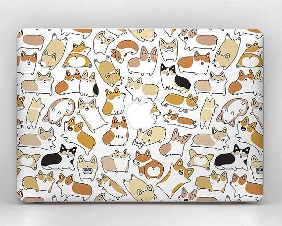 brand new fe4a5 516ac corgi macbook case mac book air cover dog macbook decal macbook pro ...