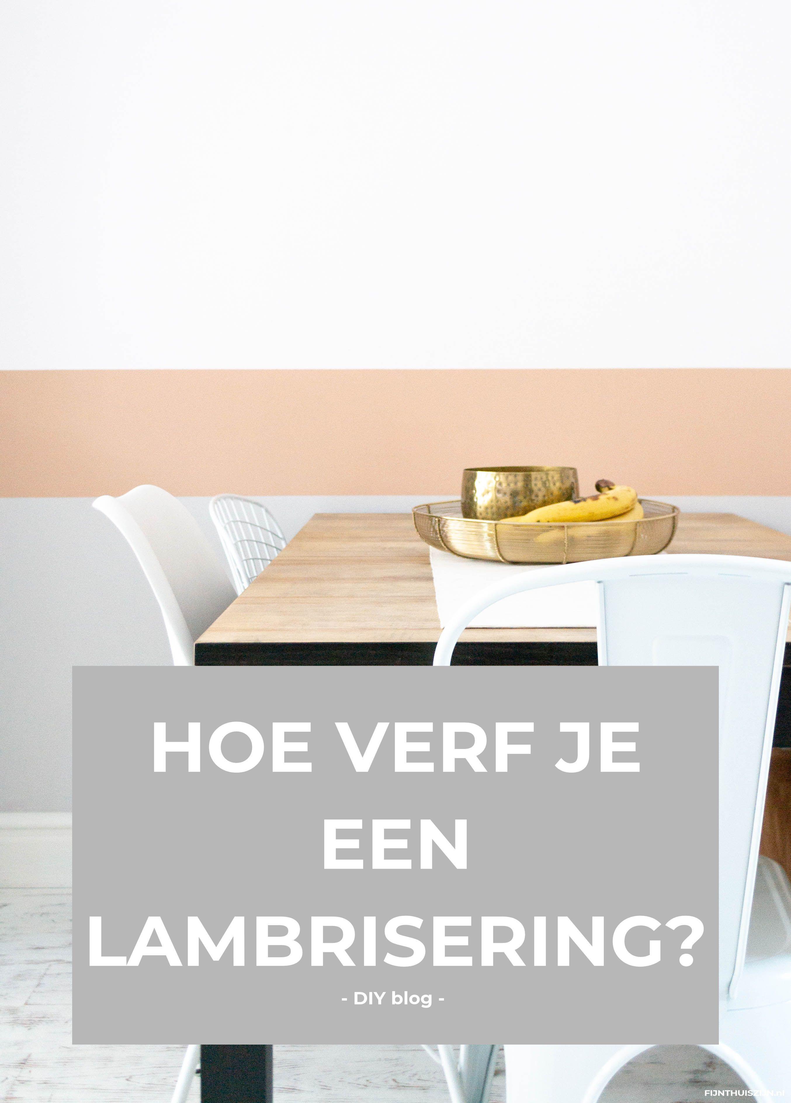 Hoe verf je een lambrisering? Lambrisering, Verf