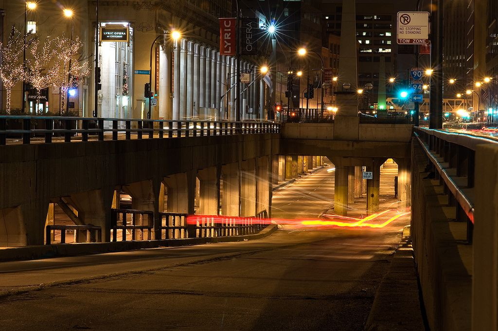 Lower Wacker Drive, Chicago. A city under the city. | Chicago ...