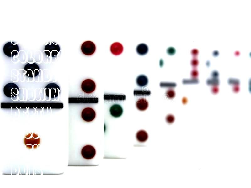 With colorful dots standing in a line showing depth of field Dominoes With colorful dots standing in a line showing depth of field  vintage bohemian wedding ideas  Google...