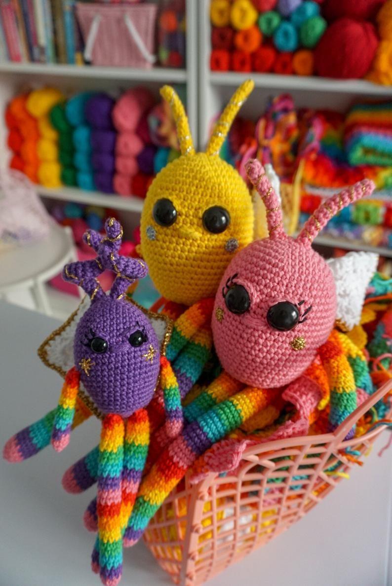 Amigurumi Pattern Rainbow Snuggle Bugs Etsy Amigurumi