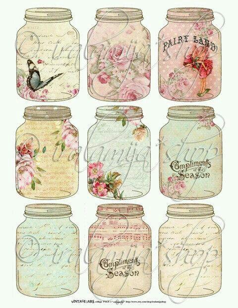 Vintage Jar Clip Art Vintage Jars Vintage Printables Mason Jar Image