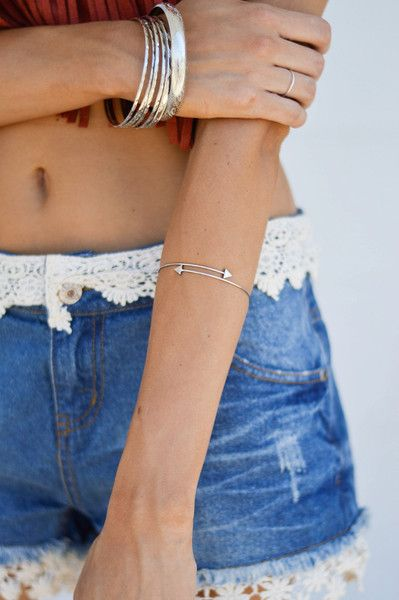 Two Way Bangle Bracelet www.pleatedempire.com