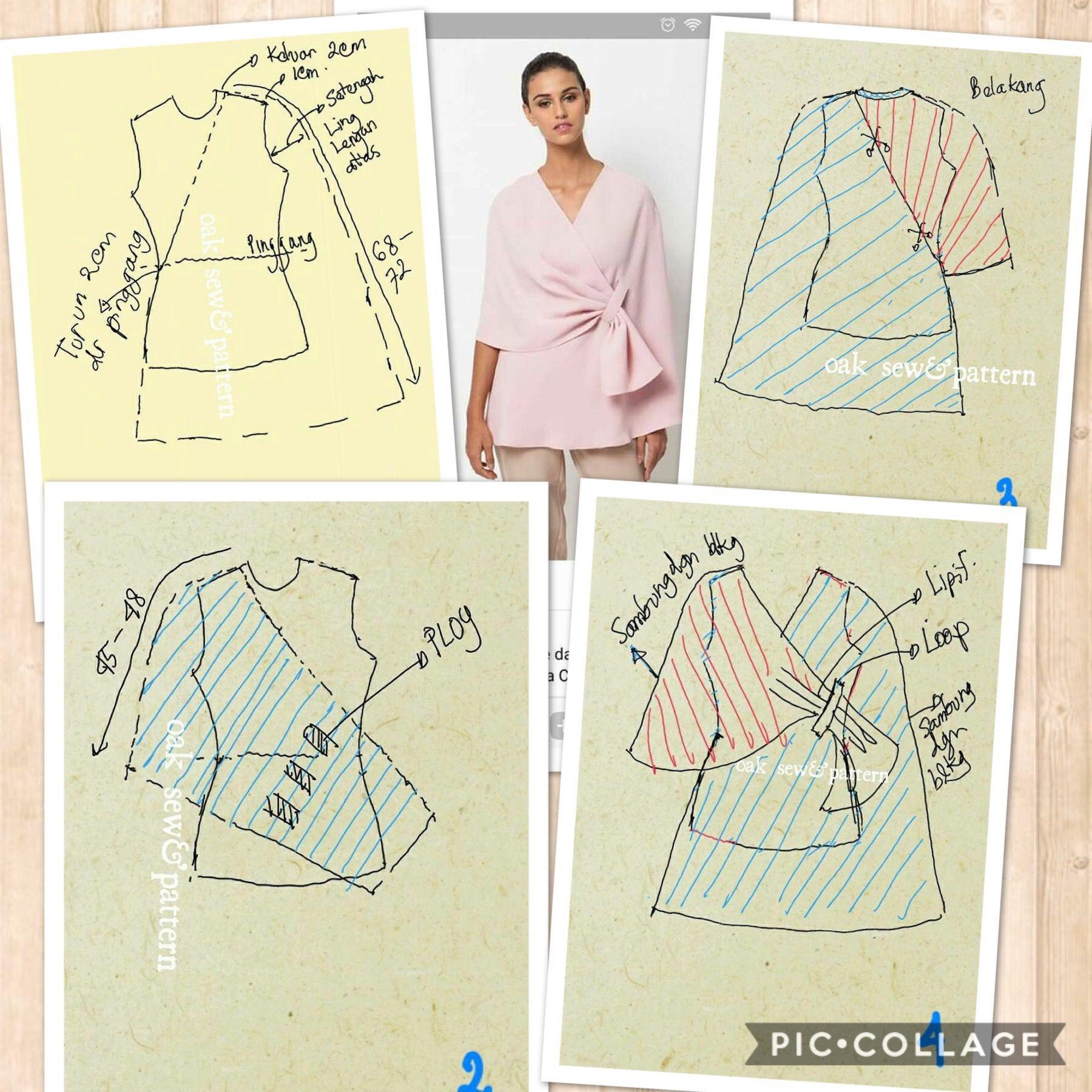 Baju Atasan Model Kimono