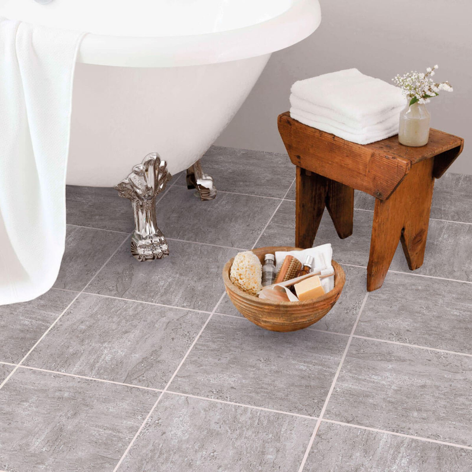 Grey Stone Floor Travertine Stone And Gray