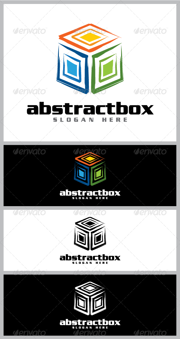 Abstract box logo templatelogo template suitable for businesses and product names features available in ai eps vector forma also rh pinterest