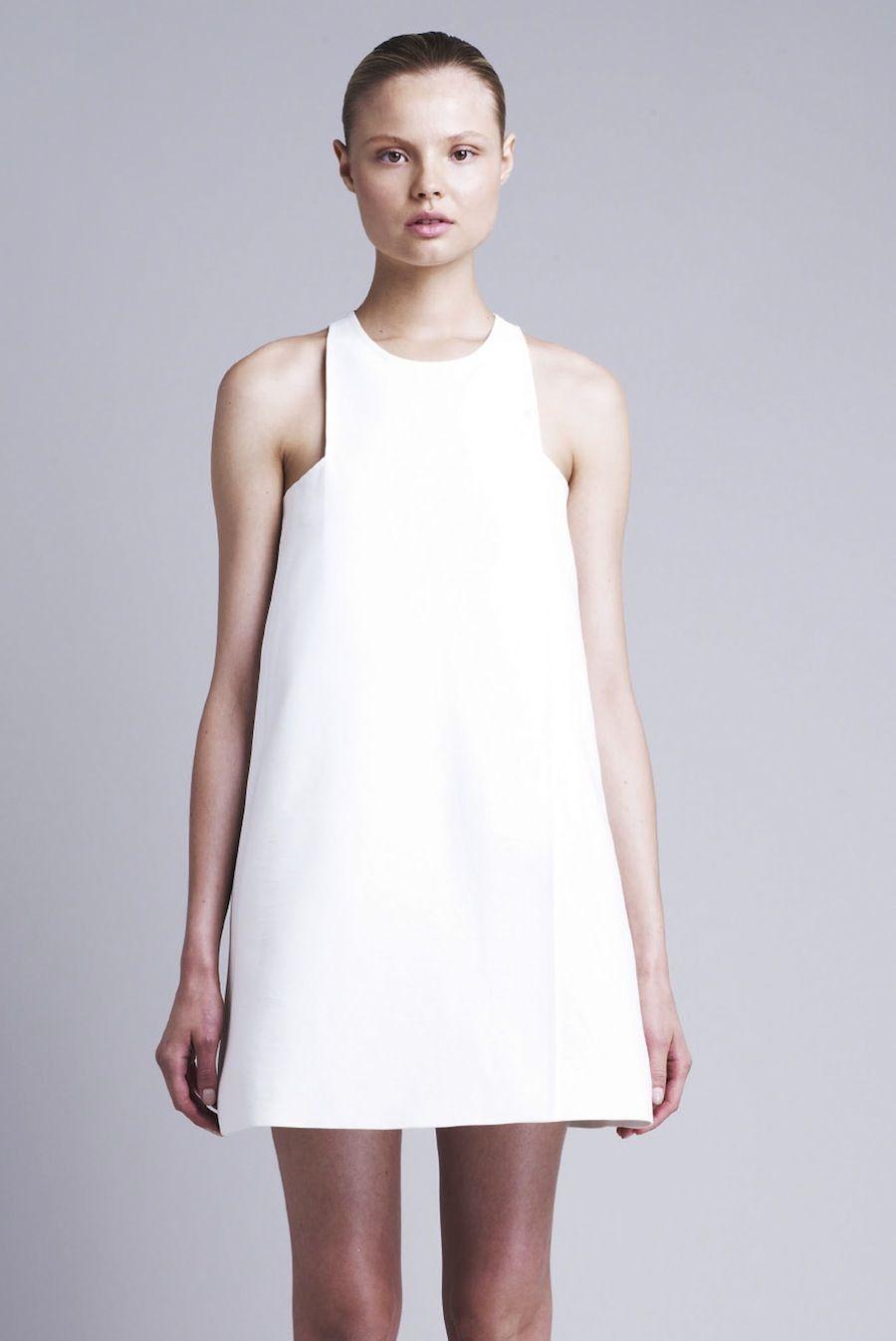 chic white dress minimal fashion modern simplicity stella mccartney minimalism. Black Bedroom Furniture Sets. Home Design Ideas