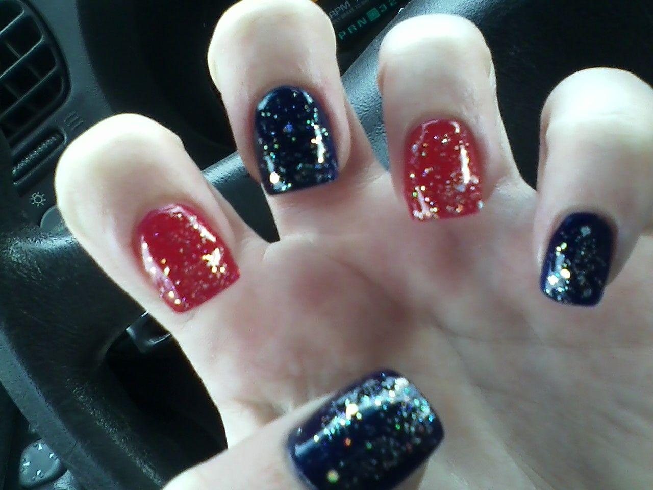 My Fourth of July nails - Lv Nails in Arlington   Nails   Pinterest