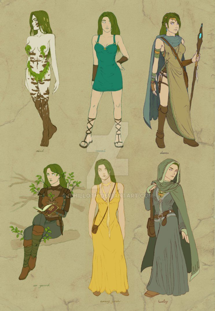 dryad clothes / Vilali ref sheet by Ithilloth.deviantart.com on @DeviantArt