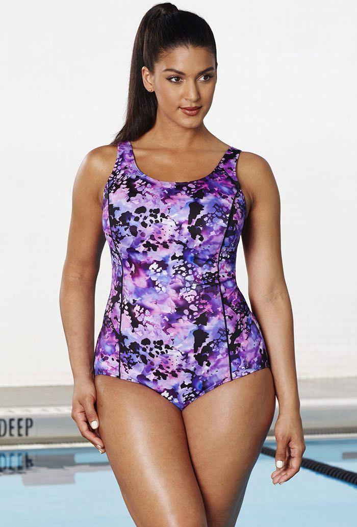 Aquabelle Whirlpool Princess Seam Swimsuit   Baño, Vestidos de baño ...