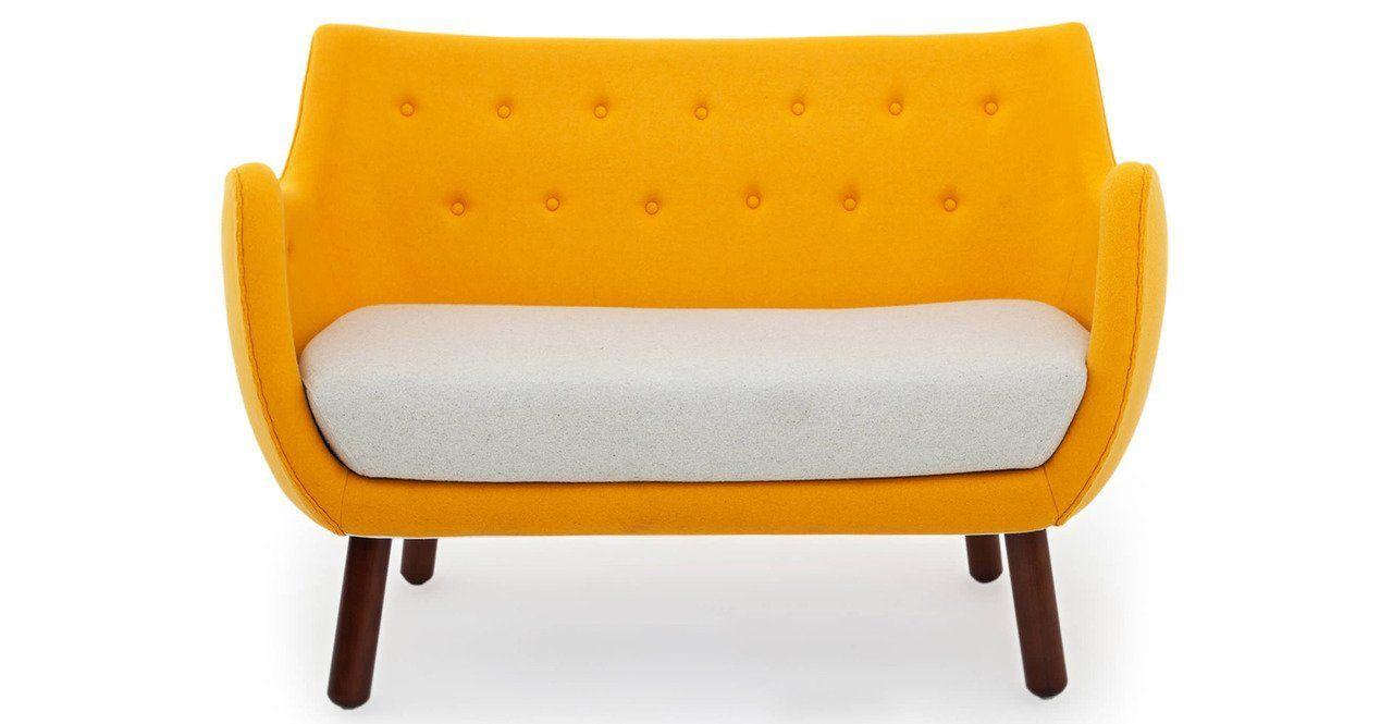 Amazon.com: Kardiel 1946 Parlor Mid-century Modern Sofa, Beige/ Surf Green Cashmere Wool: Kitchen & Dining