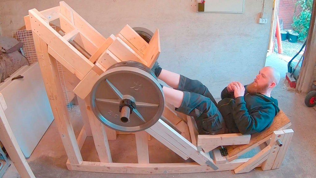 Homemade leg press in 2020 diy home gym at home gym