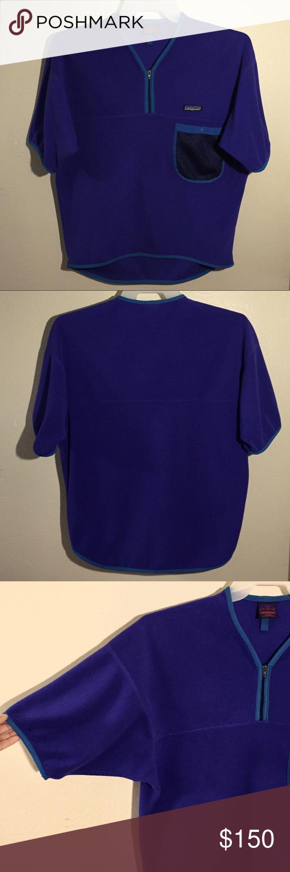 Vintage s patagonia purple fleece sweater size l fleece sweater