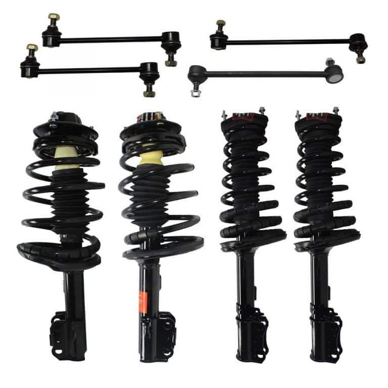 Detroit Axle Rear Strut /& Coil Spring Assembly /& Sway Bar Link Kit for 2007 2008 2009 2010 2011 Honda CR-V