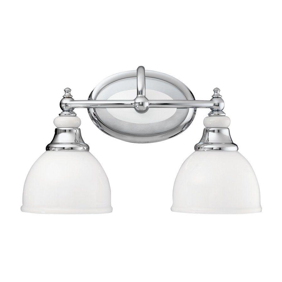 Kichler Lighting Pocelona Light In Chrome Bell Vanity Light - Chrome 2 light bathroom fixture