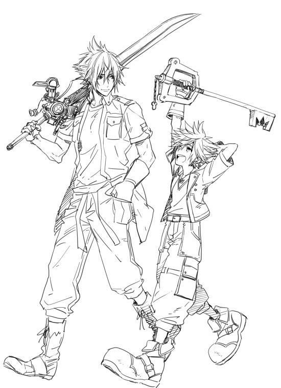I Dont Know Where To Put This So Ill Leave It In Here Kingdom Hearts Wallpaper Kingdom Hearts Fanart Kingdom Hearts Characters