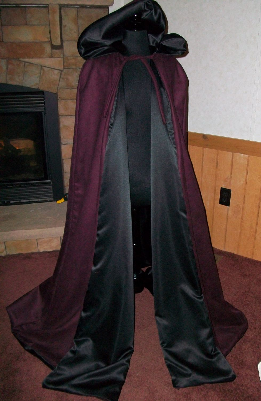New adult Renaissance Medieval Elizabethan coplay pirate templar knight black suede cloak cape coat costume