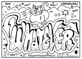 Graffiti Coloring Page Free Printable Graffiti Room Signs Coloring Pages Inspirational Words Coloring Book Swear Word Coloring Book